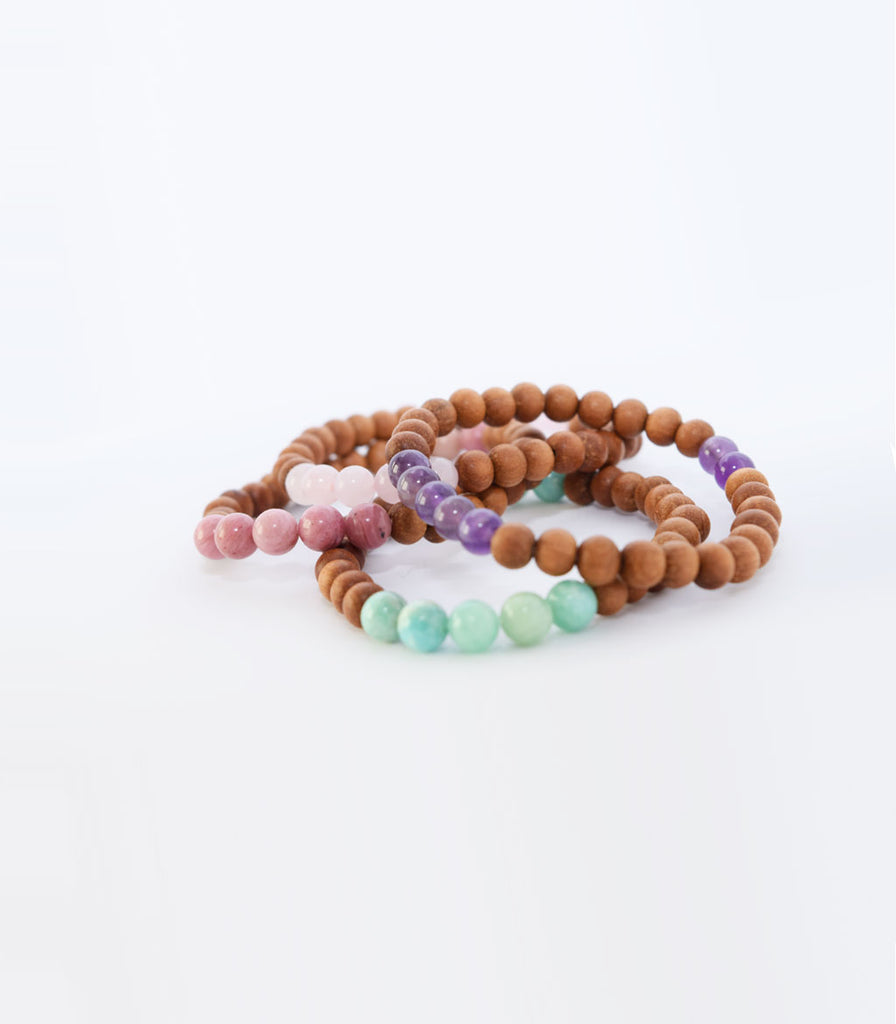 Amazonite and Sandalwood Bracelet - mindbeads