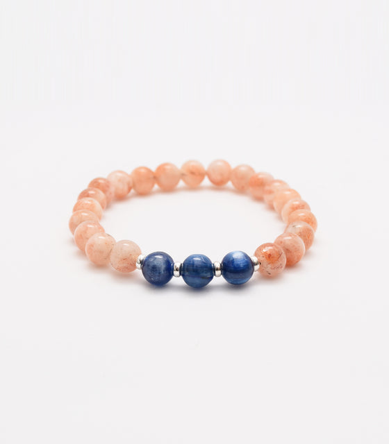 Kyanite and Sunstone Bracelet - mindbeads