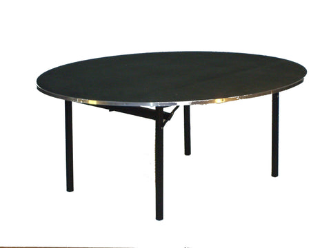 "72"" diameter deluxe flock coated banquet folding table"