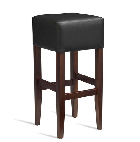 High Bar Stool – ZA.233ST – Dark Walnut – Black