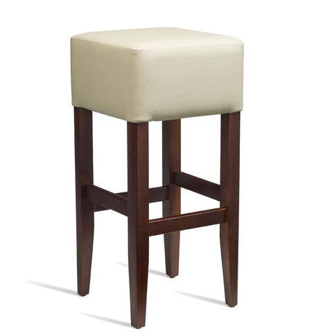 High Bar Stool – ZA.235ST – Dark Walnut – Cream