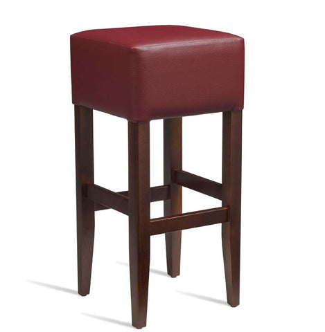High Bar Stool – ZA.236ST – Dark Walnut – Red
