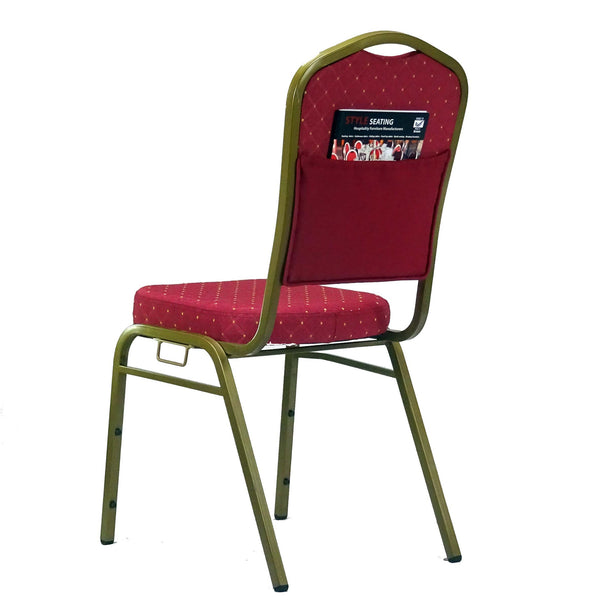 Orbit Red Stacking chair with link and pouch