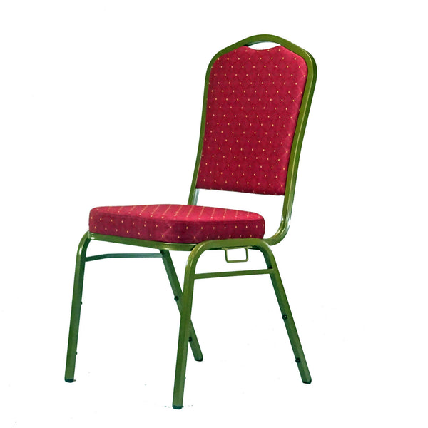 Orbit Red Stacking chair with link