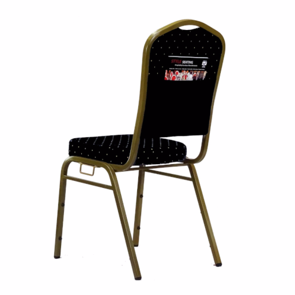 Orbit Black Stacking chair with links and pouch