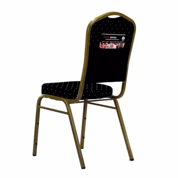 Orbit Black Stacking chair with pouch