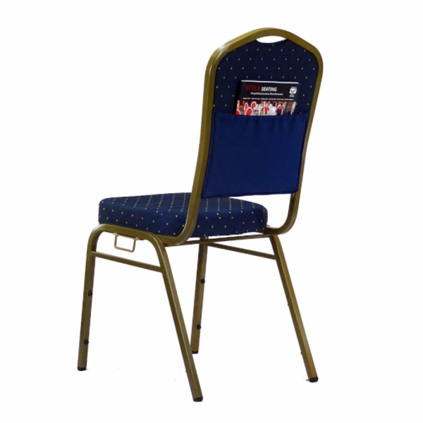 Orbit Blue Stacking chair with pouch and link