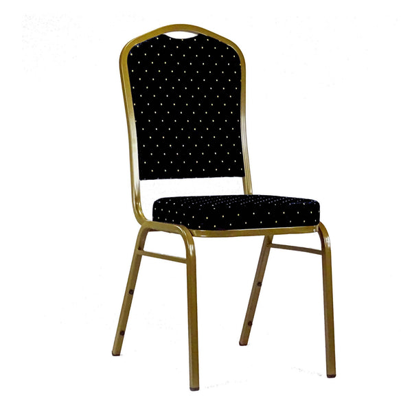 Orbit Black Stacking chair with links