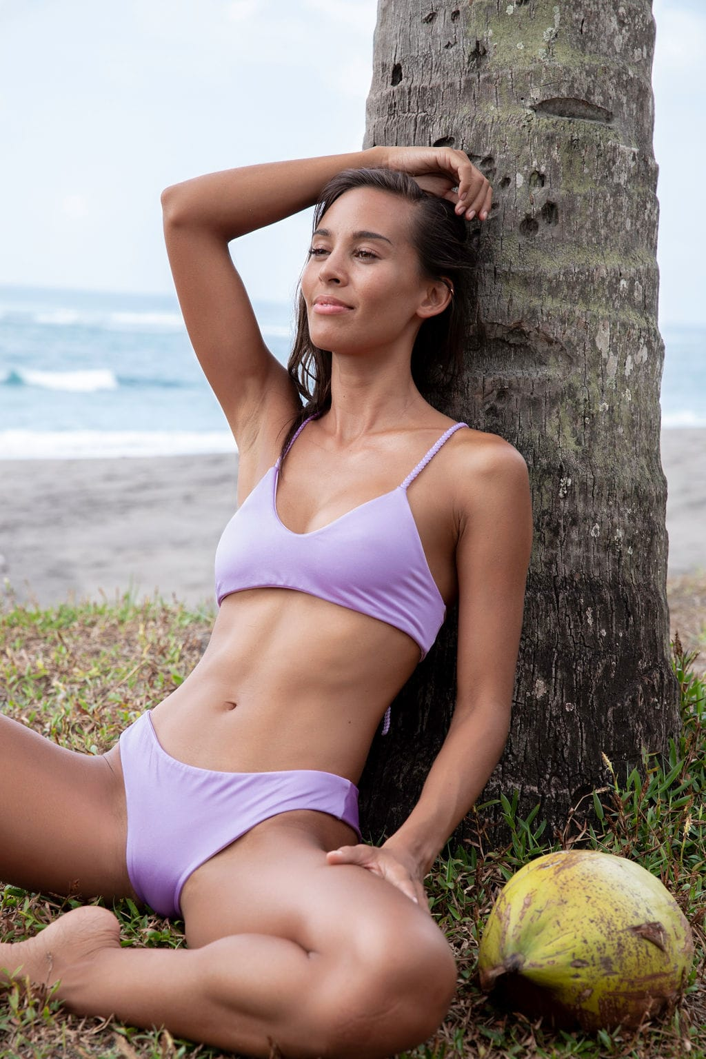 LAYA bikini | Tangled Cross Back - Pale Purple