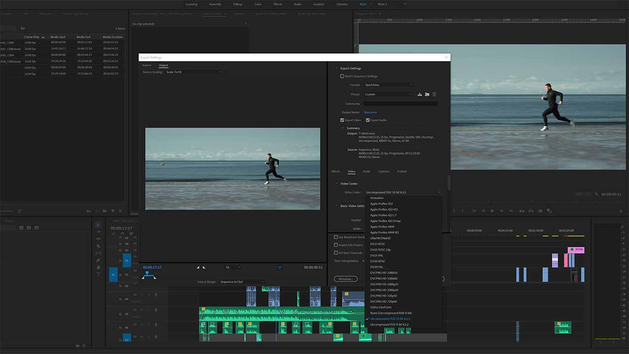 export 10-bit video in premiere pro cc after effects