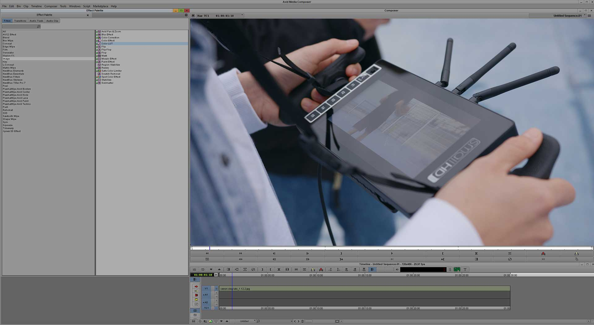 how to use luts avid