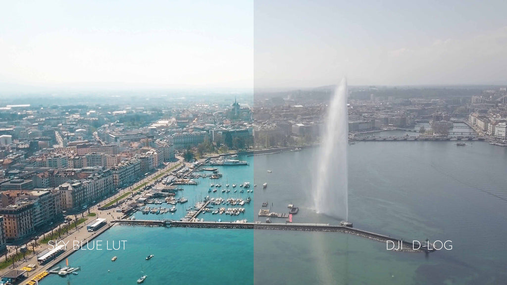 DJI drone d-log dlog lut luts cinematic best how to color correction