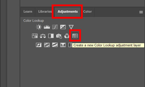 how to use LUTs in Photoshop