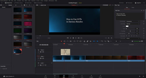 how to install luts in davinci resolve
