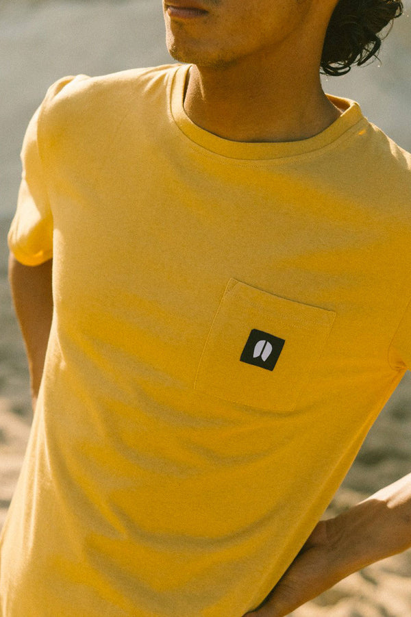 Pocket Jaune - T-shirt Homme