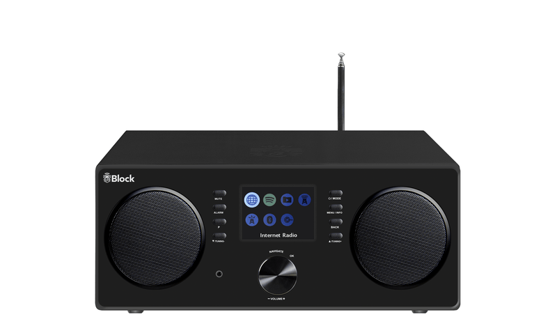 block All-In-One mit Lautsprecher schwarz Block CR-20 Internetradio + DAB+ FM