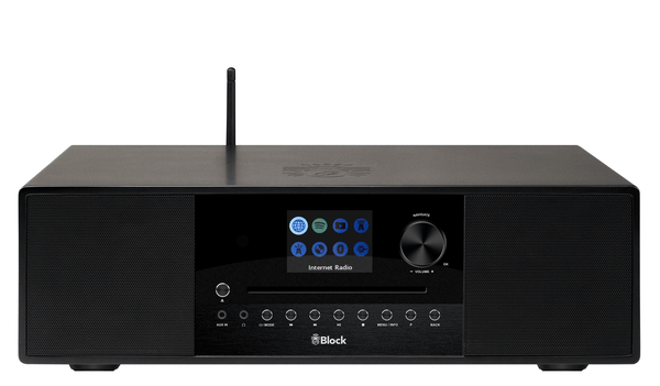 blocco All-In-One con blocco nero dell'altoparlante SR-100 Smartradio