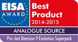 Pro-ject Audio HIFI STEREO black glossy lacquer PROJECT AUDIO XTENSION 9 SUPERPACK OF THE EISA AWARD WINNER, our tip!