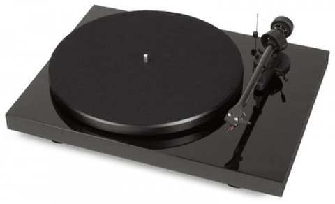Pro-ject Audio turntable black glossy lacquer PROJECT DEBUT CARBON with ORTOFON 2M silver, HTE Version: DESIGN AND SOUND!