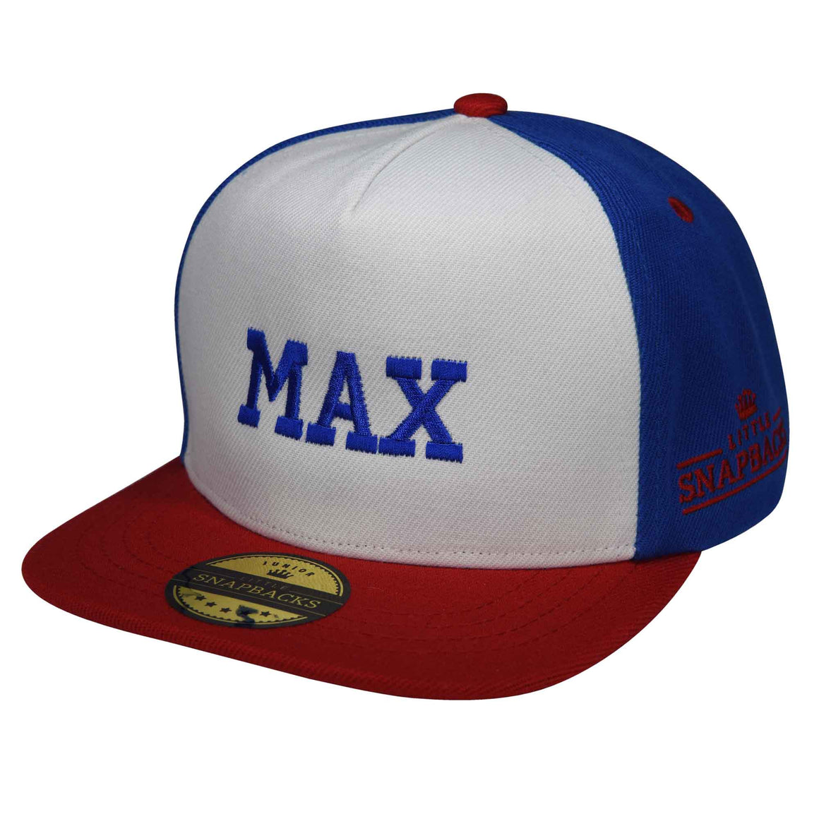 Little Snapbacks Personalised Kids hat - Royal Blue thread