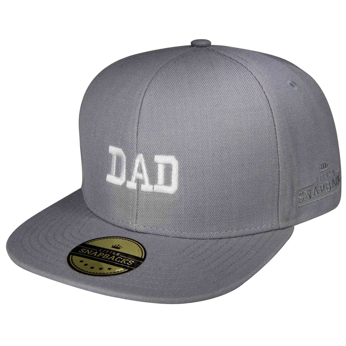 Little Snapbacks Matching Adult Grey Snapback