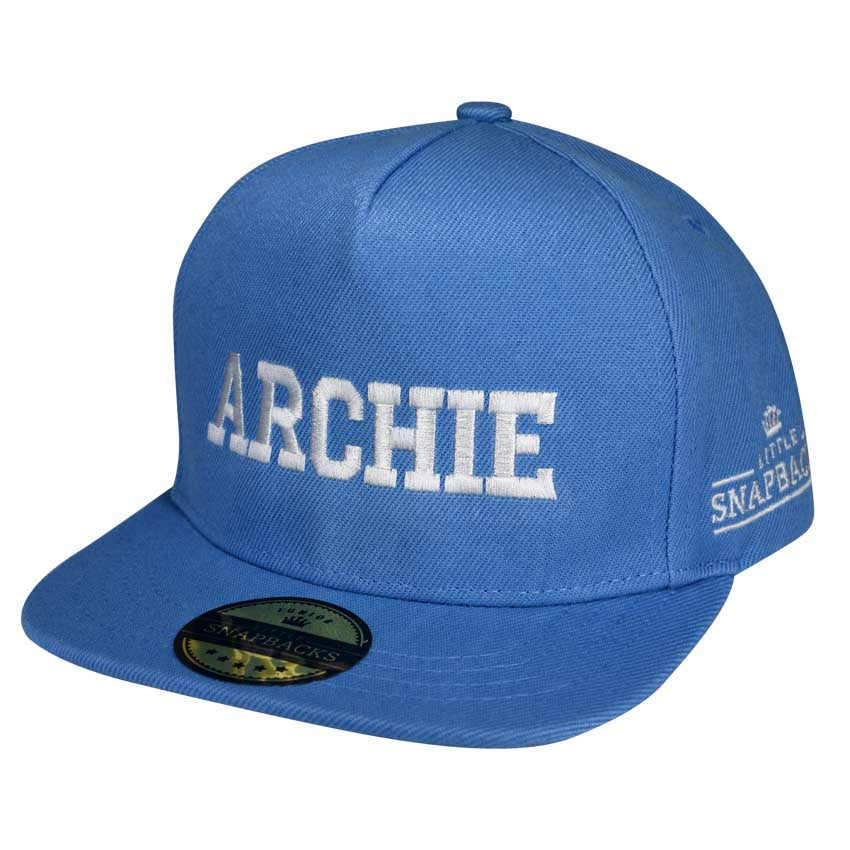 Little Snapbacks Personalised Kids Hats - Sky Blue Snapback
