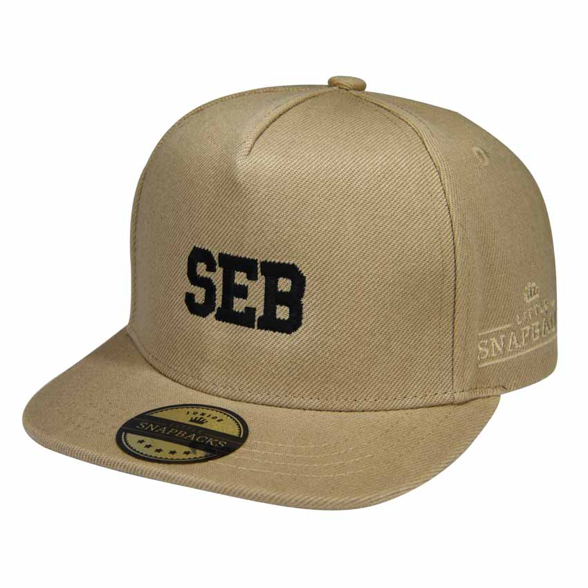 Little Snapbacks Tan Snapback - Personalised Kids Hat