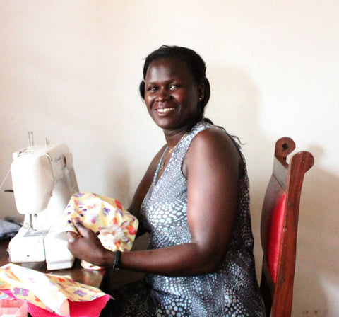 Teddy, one of the hardworking Kijani tailors
