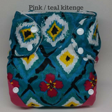 All in two Kitenge diaper cover with two snap in soakers