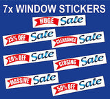 Sale POSTER WINDOW STICKER shop signs posters sticker STORE POS huge closing