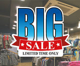 BIG Sale window shop sign poster sticker Vinyl retail STORE POS sale advertising