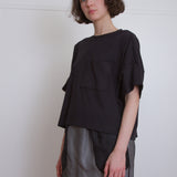 boxy cotton pocket tee