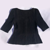 knit decolletage top
