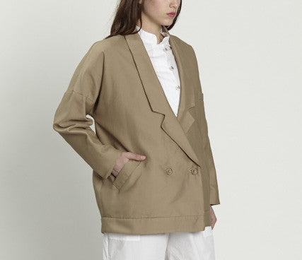 double breasted jacket - tan