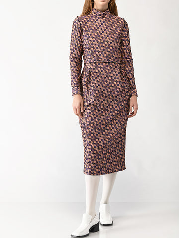 mock collar dress