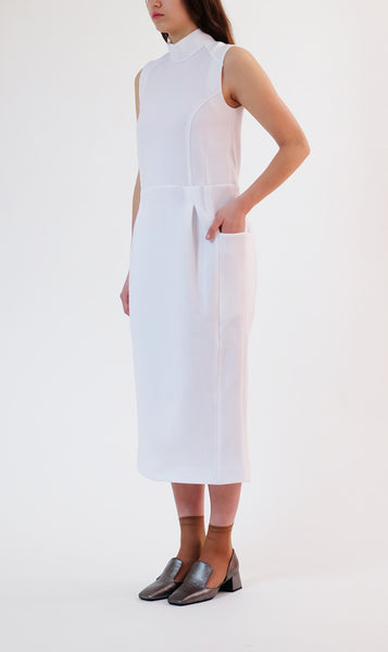 tecno-cotton jersey dress