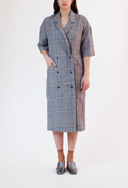 smock dress - summer plaid