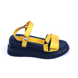 yellow velcro sandal