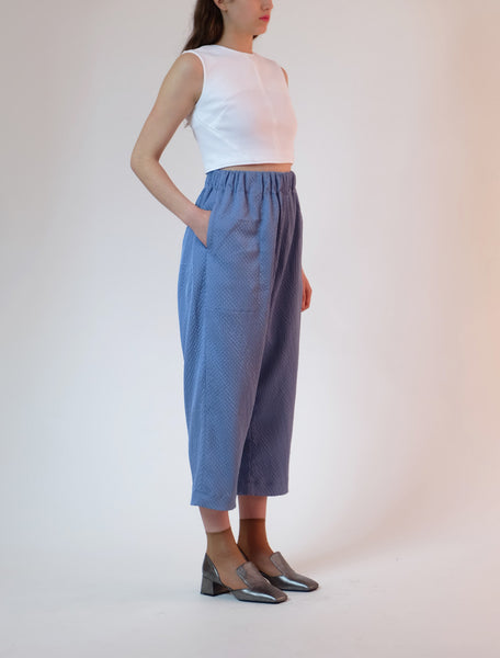 elastic waist trousers - cornflower
