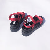 red velcro sandal