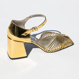 high heel 70s strappy sandal