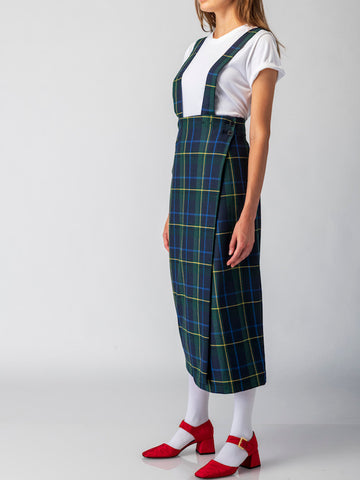 suspender wrap skirt