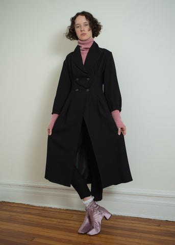 darted shawl collar coat