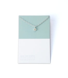 November birthstone silver necklace