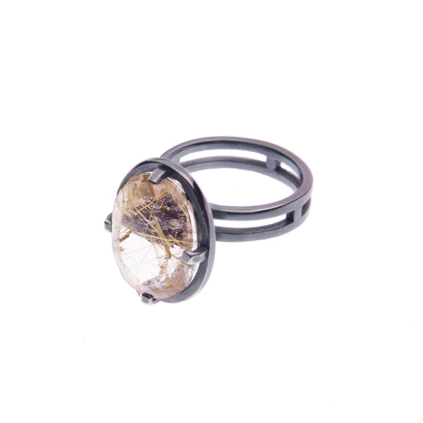 Rutilated Quartz ring
