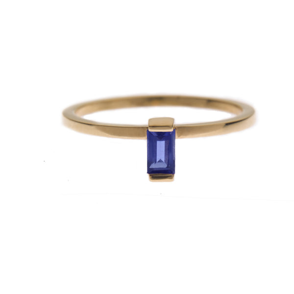 Iolite Ingot Ring in Gold