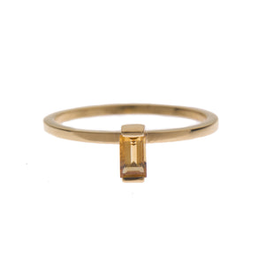 Citrine Ingot Ring in Gold