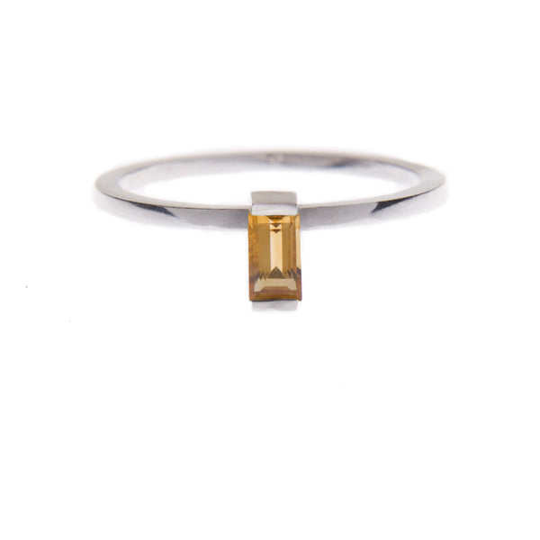 Citrine Ingot Ring in Silver