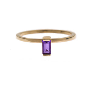 Amethyst Ingot Ring in Gold