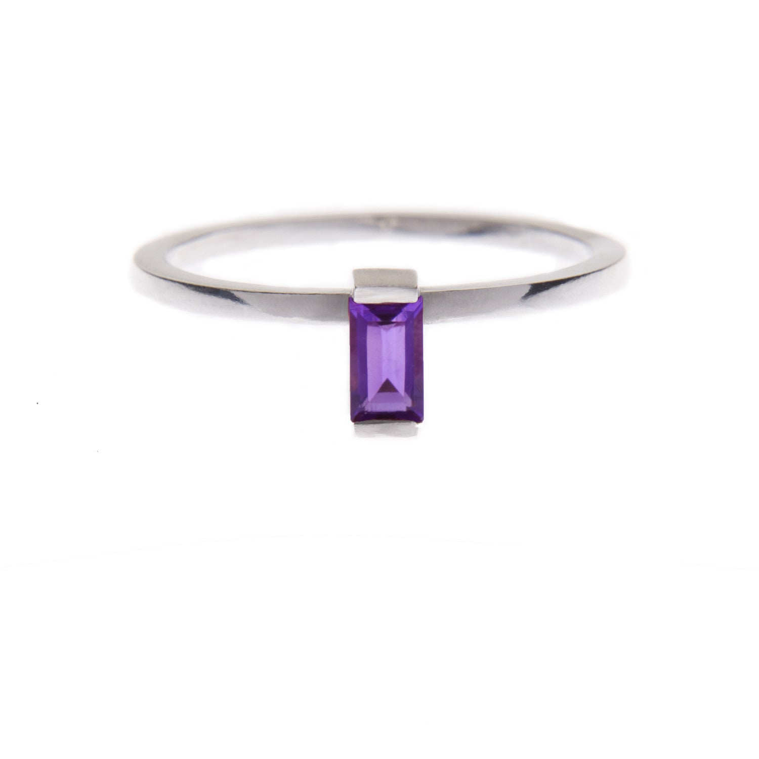 Amethyst Ingot Ring in Silver